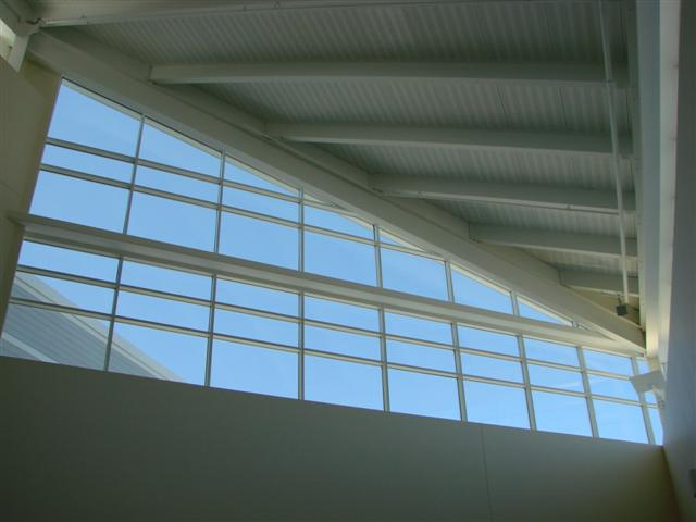 Soaring ceilings - impressive architecture of Windham High