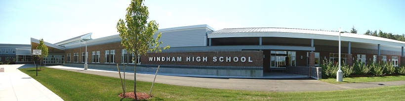 Front Entrance of Windham High School