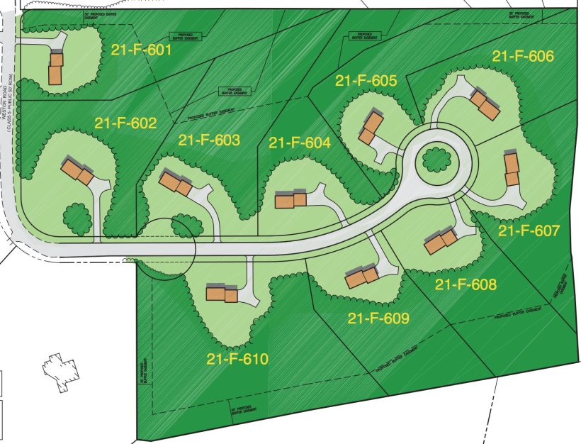 Weston Estates Subdivision Plan
